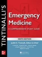 Tintinalli s Emergency Medicine  A Comprehensive Study Guide  9th edition PDF