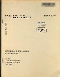 Titian Centaur D 1TTC 4 Viking A Flight Data Report PDF