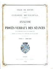 Analyse des procès-verbaux des séances du 22 décembre 1800 au 20 novembre, 1874: 1800-1840