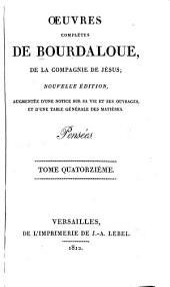 Oeuvres complètes de Bourdaloue, de la compagnie de Jesus: Volume14