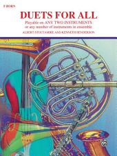 Duets for All: For Horn in F