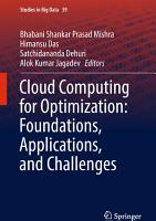 Cloud Computing for Optimization  Foundations  Applications  and Challenges PDF