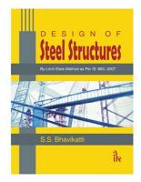 Design Of Steel Structures  By Limit State Method As Per Is  800 2007  PDF
