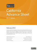 California Advance Sheet February 2012