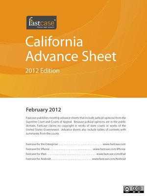 California Advance Sheet February 2012 PDF