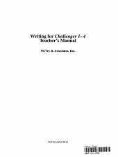 Writing for Challenger 1 4 Teachers Manual PDF