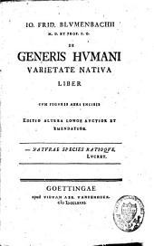 De generis hvmani varietate nativa liber