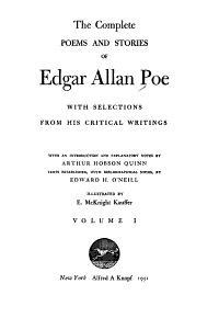 The Complete Poems and Stories of Edgar Allan Poe