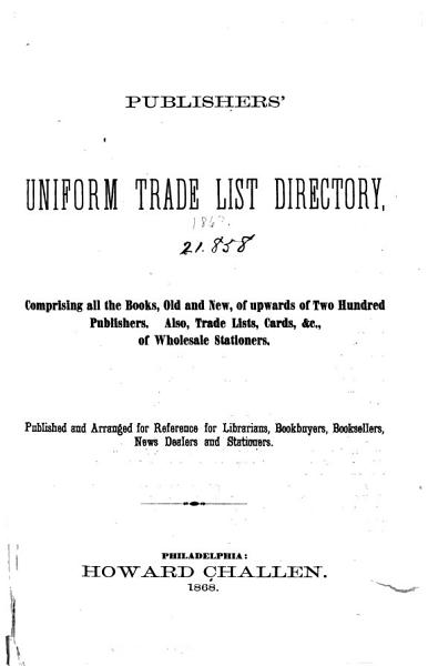 Download Publishers   Stationers Trade List Directory Book