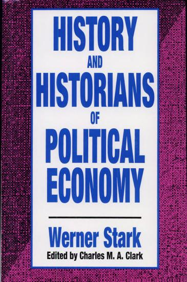 History and Historians of Political Economy PDF