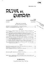 Revue de Qumrân