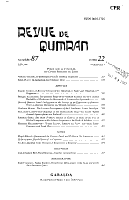 Revue de Qumr  n PDF