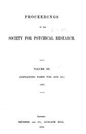 Proceedings of the Society for Psychical Research