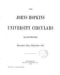 The Johns Hopkins university circulars  afterw   circular PDF