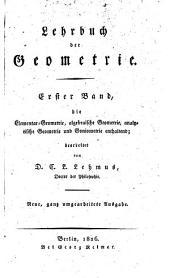 Lehrbuch der Geometrie: Band 1