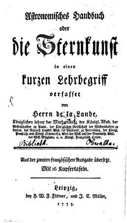 Astronomisches Handbuch oder die Sternkunst PDF