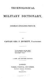 Technological military dictionary, German-English-French