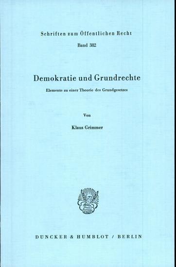Demokratie und Grundrechte PDF