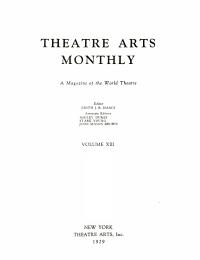 Theatre arts magazine PDF