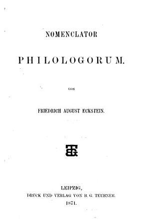 Nomenclator philologorum PDF