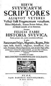 Rerum Suevicarum scriptores aliquot veteres Velleji Galli fragmentum vetustum