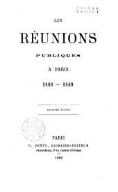 Les réunions publiques à Paris, 1868-1869