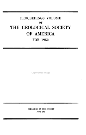 Proceedings of the Geological Society of America PDF