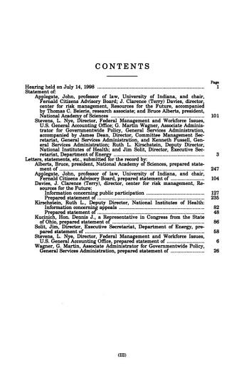 Oversight of the Federal Advisory Committee Act PDF