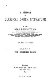 pt. I. The poets [epic and lyric] with an appendix on Homer by Prof. Sayce