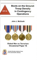Boots on the ground  Troop Density in Contingency Operations PDF