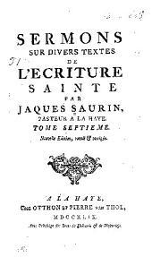 Sermons sur divers textes de l'ecriture sainte ...