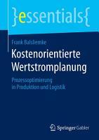Kostenorientierte Wertstromplanung PDF