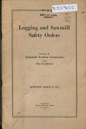 Logging and Sawmill Safety Orders