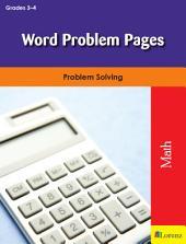 Word Problem Pages: Problem Solving
