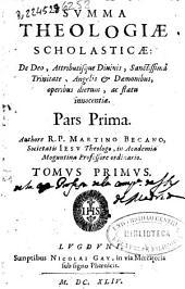 Summa theologiae scholasticae De Deo, attributísque Diuinis, Sanctissimâ Trinitate, Angelis & Daemonibus, operibus dierum, ac statu innocentiae : pars prima