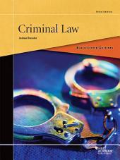 Black Letter Outline on Criminal Law: Edition 3