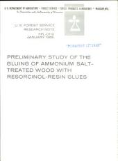 Preliminary study of the gluing of ammonium salt-treated wood with resorcinol-resin glues