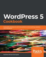 WordPress 5 Cookbook PDF
