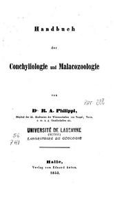 Handbuch der Conchyliologie und Malacozoologie