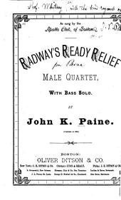 Radway's Ready Relief: Male Quartet with Bass Solo
