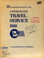 Program Report of the United States Travel Service PDF