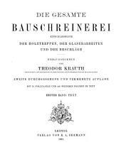 Die gesamte Bauschreinerei einschliesslich der Holztreppen, der Glaserarbeiten und der Beschläge: Bd. Text