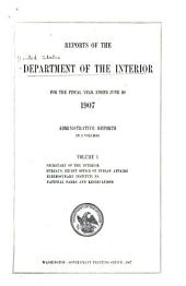 Reports of the Department of the Interior: Volume 1