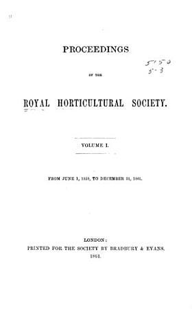Proceedings of the Horticultural Society of London PDF