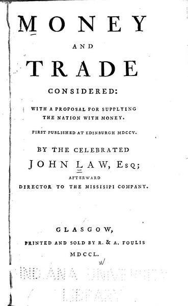 Download Money and Trade Considered Book