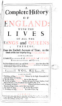 A Complete History of England: I. The history of King Henry VIII., written by Edward, lord Herbert of Cherbury