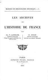 Les archives de l'histoire de France: Volume2