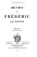 uvres de Fr  d  ric le Grand     PDF