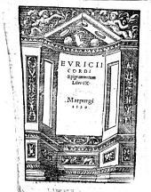 Evricii Cordi epigrammatum libri IX.