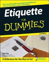 Etiquette For Dummies PDF